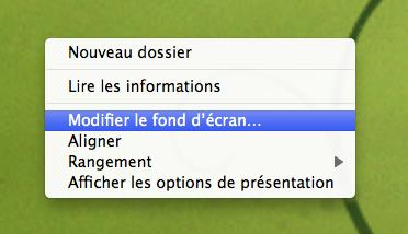 Dans le Finder Changer le fond d écran