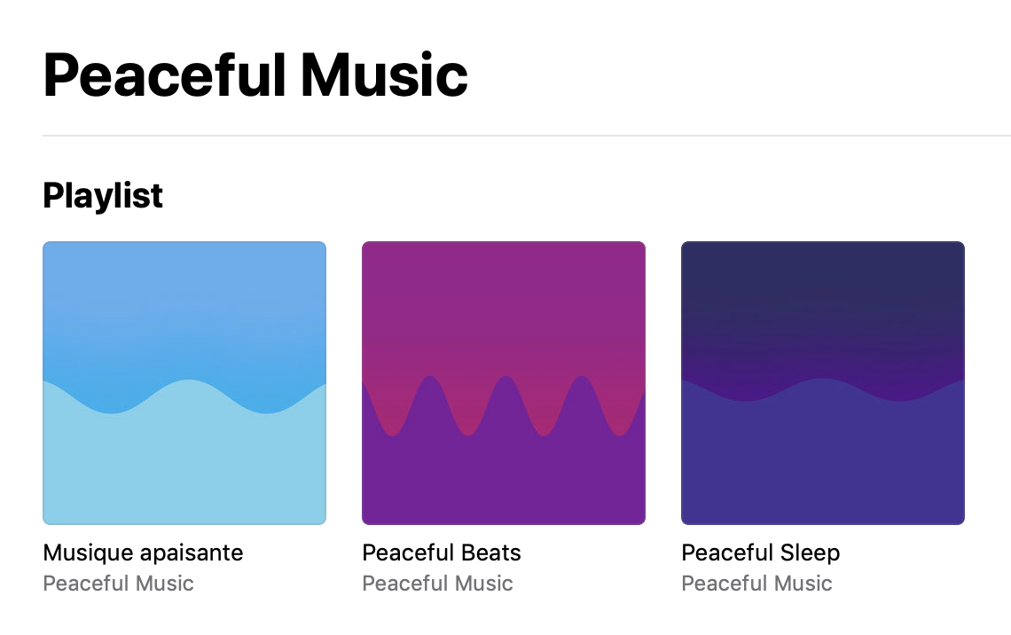 Apple Music : Peaceful Music, 3 Playlist de Max Ritcher. Une sélection pour apaiser les âmes.